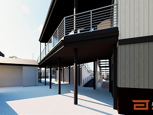 Sheboygan A's Spectator Deck Rendering Backside